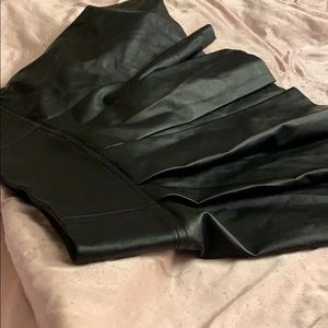 Michel kors vegan leather skirt